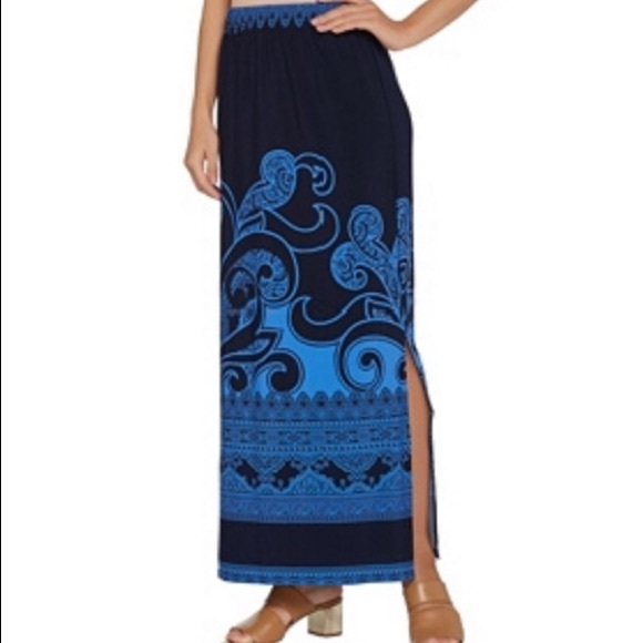 921999f062 Susan Graver Skirts | Liquid Knit Maxi Skirt 2xp | Poshmark